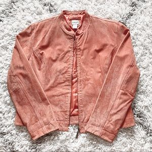 Chico's Size 2 Pink Suede Jacket